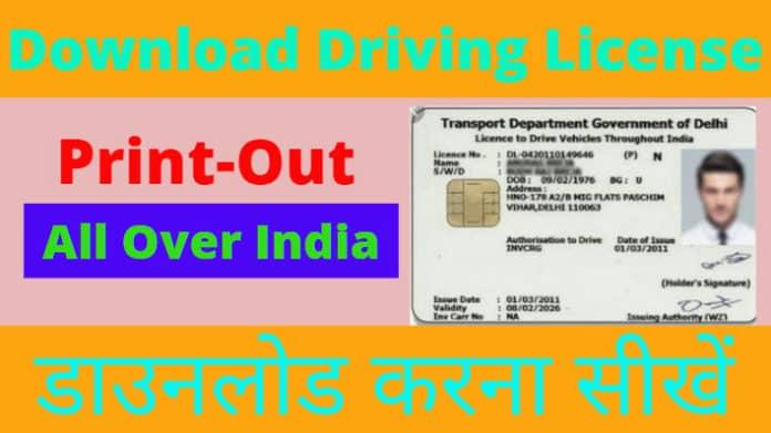 Download Driving License Online, Print Driving License